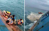 जहाज दुर्घटना हुदाँ कम्तीमा १७ जना चालक दलका सदस्य वेपत्ता