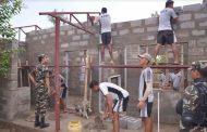 कामु प्रधानसेनापति गिरिद्वारा जनता आवास पूनर्निर्माणको निरीक्षण