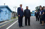 दुई कोरियाबीचको सीमा क्षेत्रमा ट्रम्प र किमबीच ऐतिहासिक भेटवार्ता