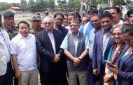 दुई पूर्वप्रधानमन्त्रीसहित सङ्घीय सरकारका मन्त्रीद्वारा बाढी क्षेत्र निरीक्षण