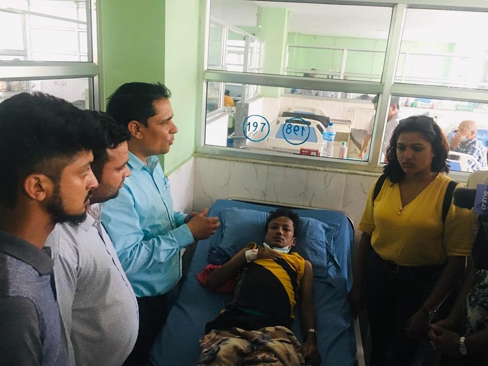 गिरिजाबाबुको जन्म जयन्तीको अवशरमा नेविसंघद्वारा मृगौला पीडितलाई ५१ हजार