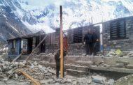 अन्नपूर्ण आधार शिविरका क्षतिग्रस्त संरचना पूर्ववत् अवस्थामा