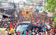 विराटनगरमा ऐतिहासिक रथयात्रा, ६ लाख हिन्दू धर्मालम्बीको उपस्थिति हुने अनुमान
