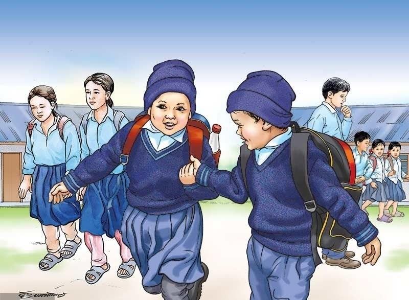 शतप्रतिशत बालबालिका विद्यालय भर्ना