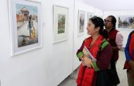 नेपालको सुन्दर दृश्य कलाकारको चित्रमा