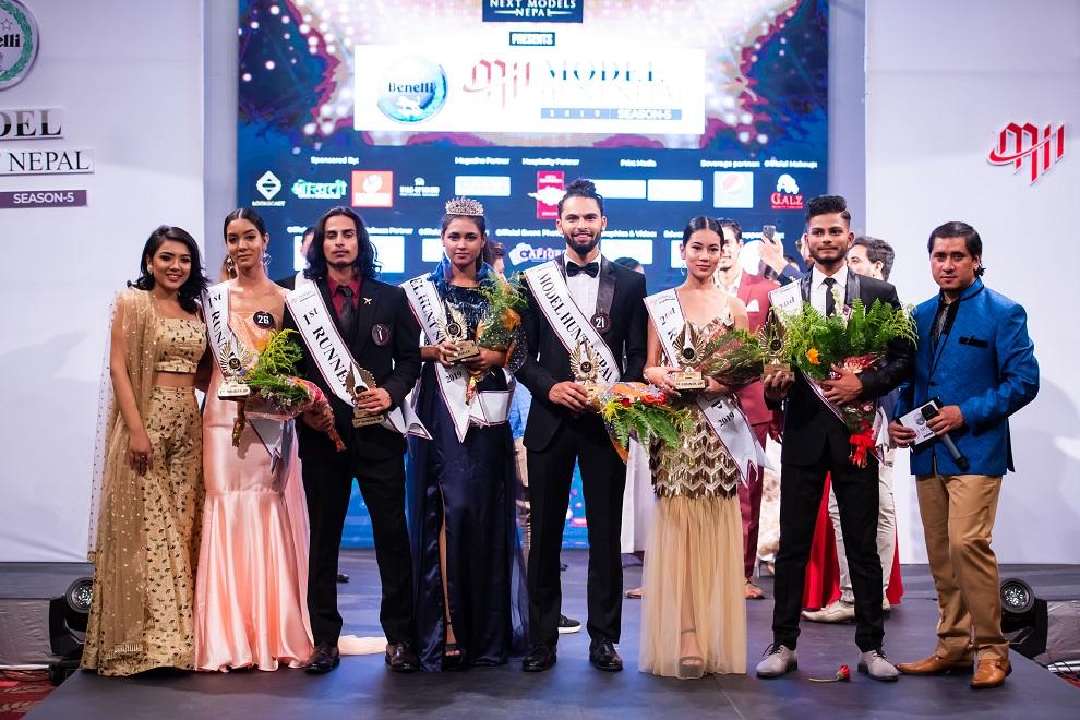 सुदिप र कुशिका मोडल हन्ट नेपाल बिजेता घोषित