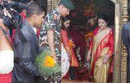 President pays homage to various goddesses