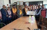 लुम्बिनी विकास बैंकद्वारा  विद्यालयलाई आर्थिक सहयोग