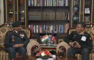 प्रधानसेनापति र भारतीय सेनाका लेफ्टिनेन्ट जर्नलबीच शिष्टाचार भेटवार्ता