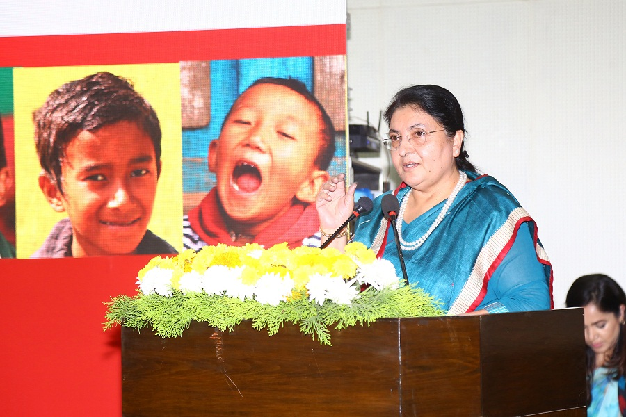 President Bhandari launches National Nutrition Campaign