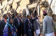 बङ्गलादेशका राष्ट्रपति हमिदद्वारा ऐतिहासिक एवं पुरातात्विक सम्पदाको अवलोकन