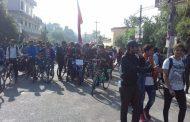 अखिल क्रान्तिकारीद्वारा महेन्द्रनगरमा भारतबिरुद्ध प्रदर्शन