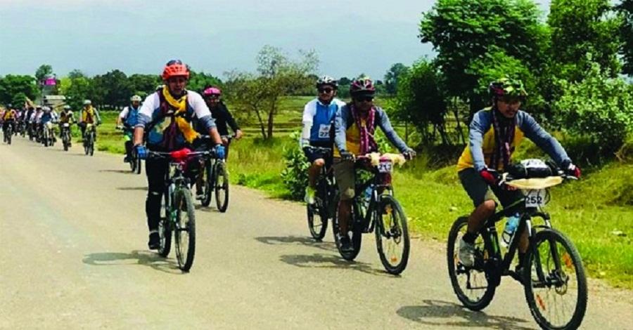 सिन्धुलीगढीको प्रचार–प्रसार गर्न साइकलयात्रा