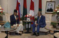राष्ट्रपति हमिदसँग सभापति देउवाको भेट, क्रान्तिमा नेपालले सहयोग गरेकामा उनले खुशी व्यक्त