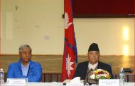 NC President Deuba takes stock of PM Oli's health