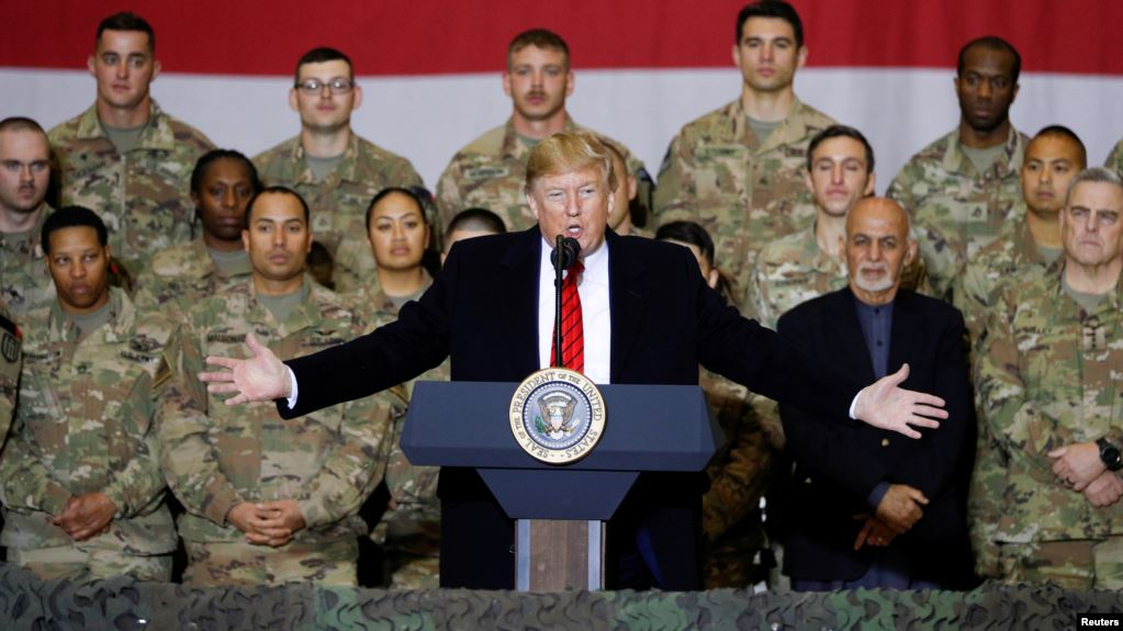 अचानक अफगानिस्तान पुगे राष्ट्रपति ट्रम्प