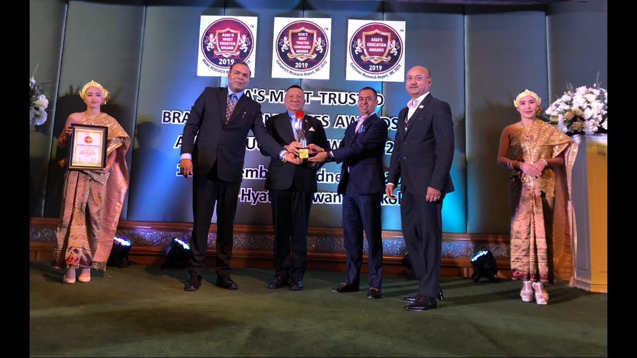 आइएमई एसिया मास्ट ट्रस्ट्रेड कम्पनि अवार्डबाट सम्मानित