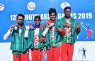 आर्चरीमा बङ्गलादेशले १० स्वर्ण पदक हात पार्न सफल, नेपाललाई एक रजतसहित तीन पदक