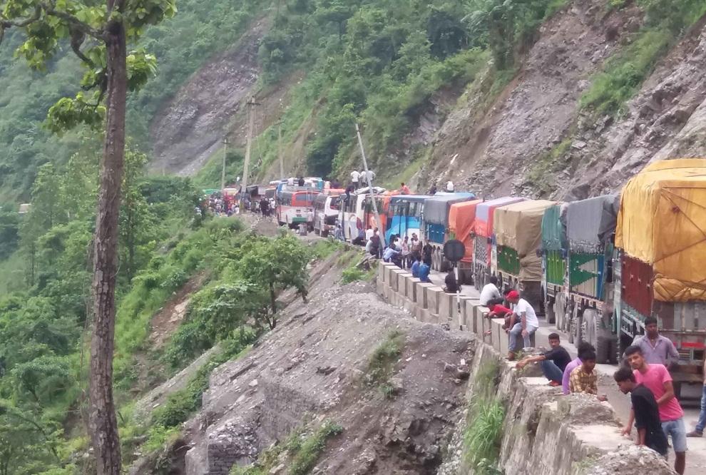 आजदेखी पुस १० गतेसम्म दैनिक चारघण्टा नारायणगढ–मुग्लिन सडकखण्ड बन्द हुने