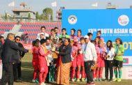 नेपाली महिला फुटबल खेलाडी पराजित हुँदा थामिएन मन्त्री नरदेवी पुनको आँशु