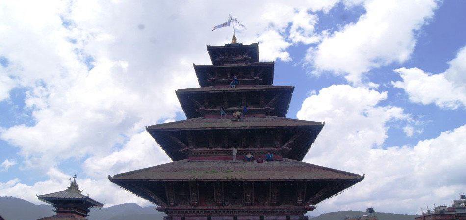 न्यातापोल अर्थात् पाँचतले मन्दिरको जीर्णोद्धार शुरु