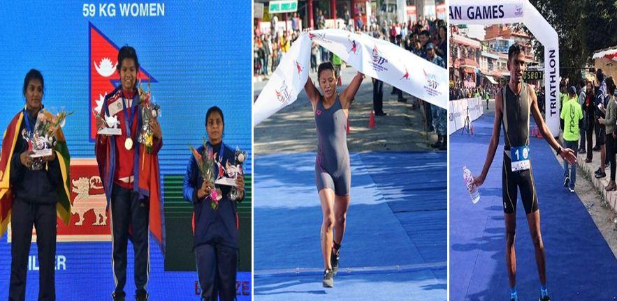 साग पोखरा : नेपाललाई चार स्वर्णसहित ३४ पदक
