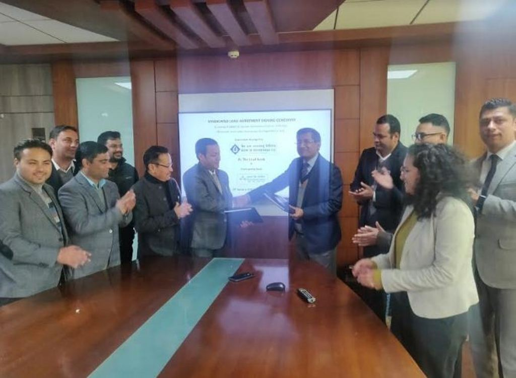 कास्केड जलविद्युत आयोजनाको सहवित्तियकरण कर्जामा  बैंक अफ काठमाण्डूको अगुवाइ भुमिका