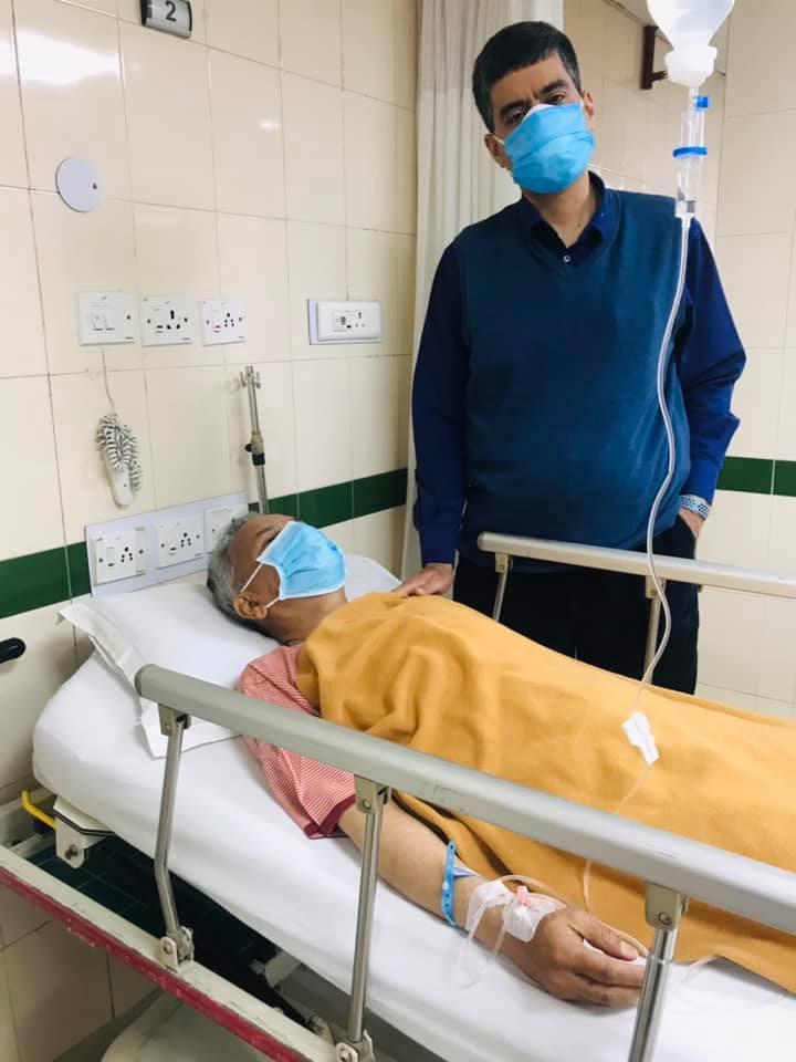 उपचारका लागि डा भट्टराई दिल्लीस्थीत अस्पताल भर्ना