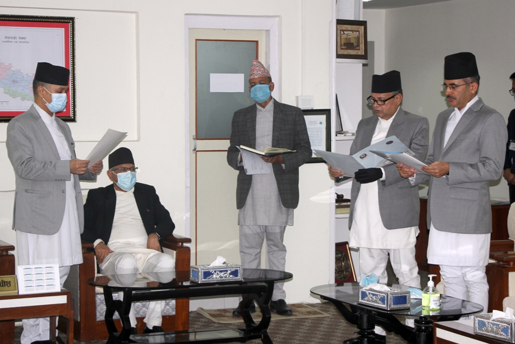 Justices Chudal and Subedi take oath of office and secrecy